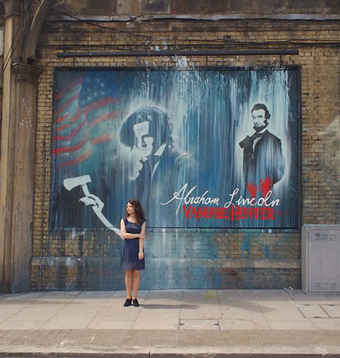 abraham lincoln vampire hunter mural