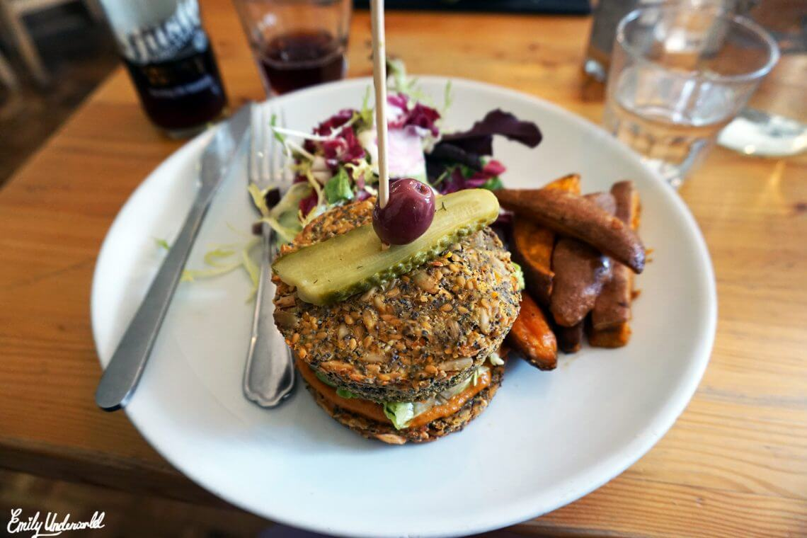 Wild Food Cafe vegan burger