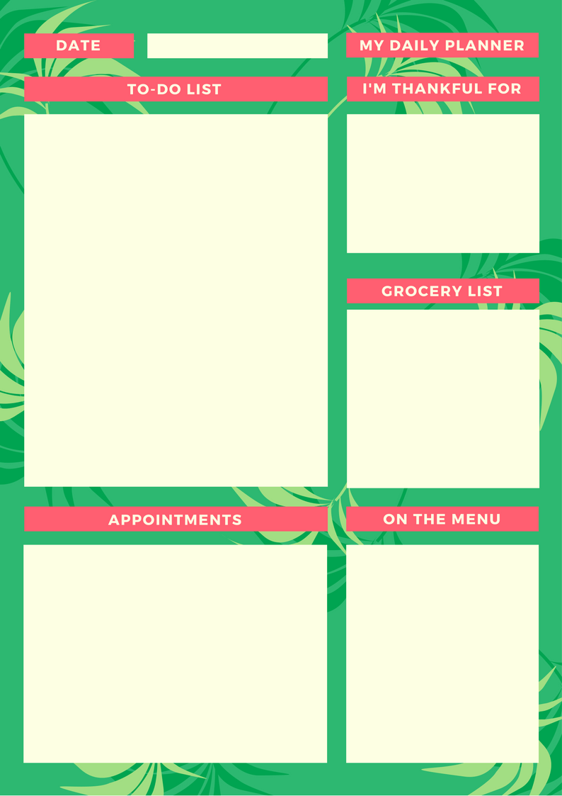 My Daily Planner Green