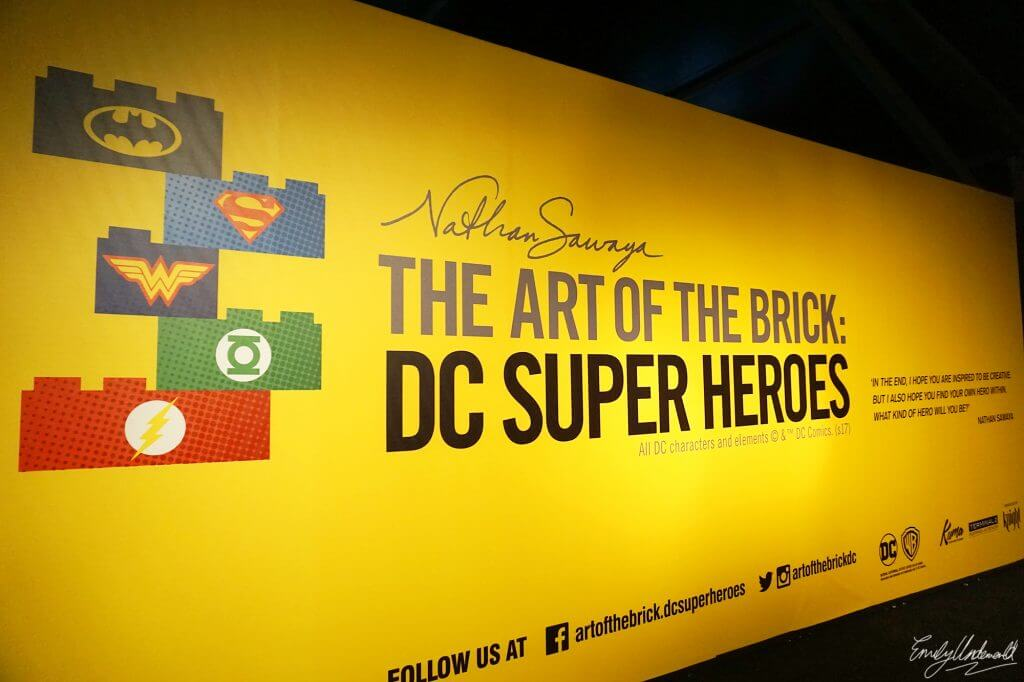 The DC Super Heroes 'Art of the Brick' Lego Exhibition!