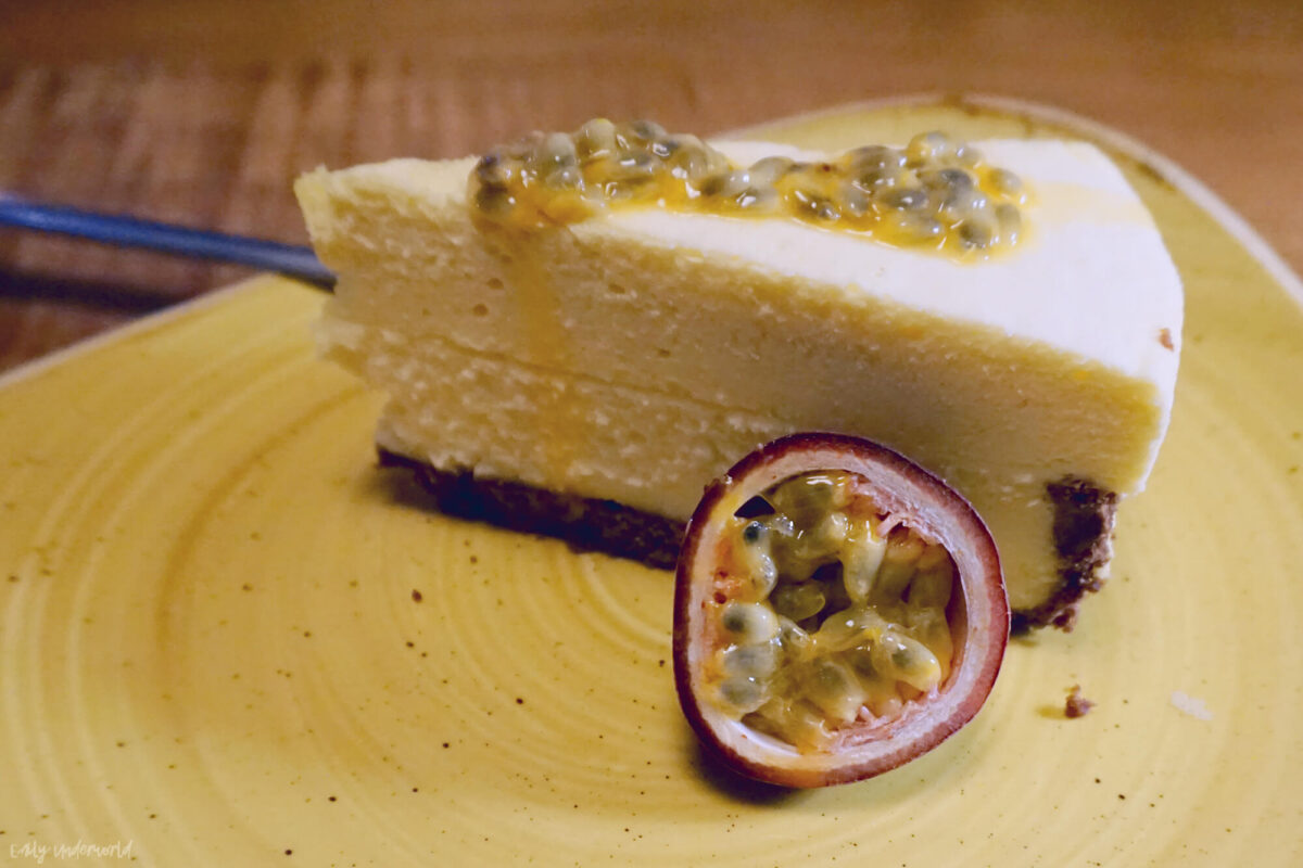 Giraffe White Chocolate & Passion Fruit Cheesecake