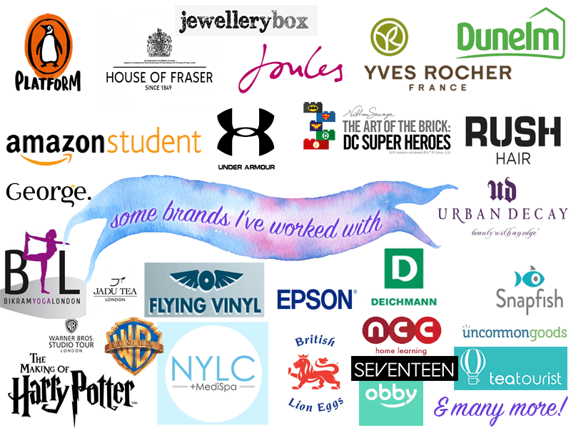 Some Brands I've Worked With