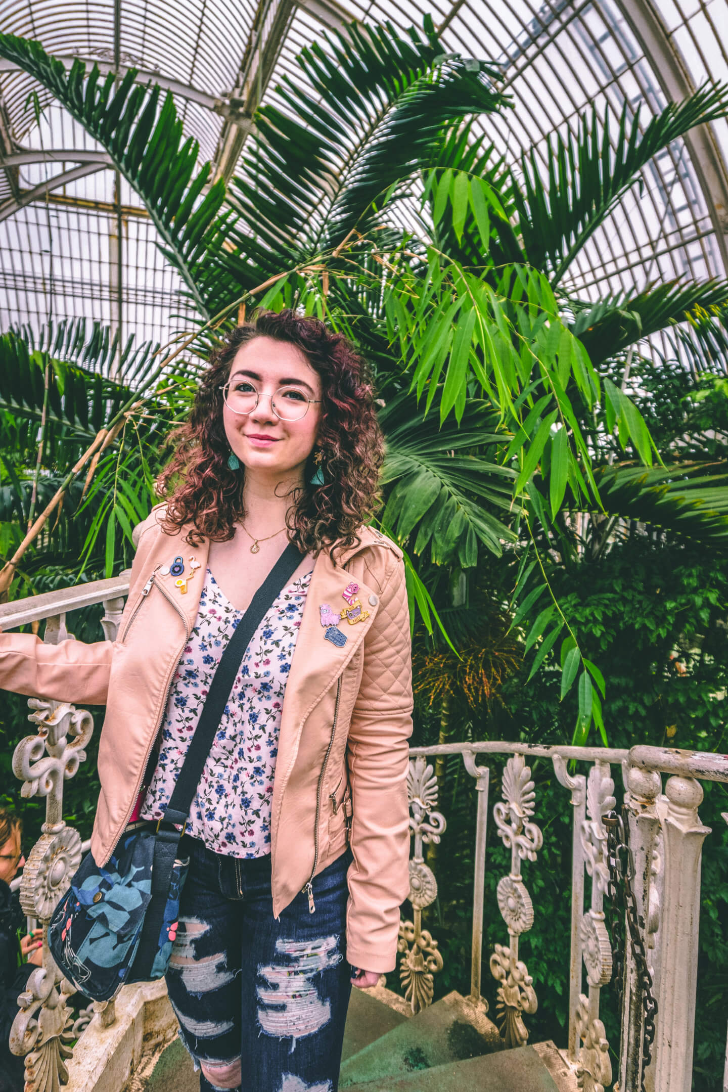 Standing inside the Palm House at Kew Gardens